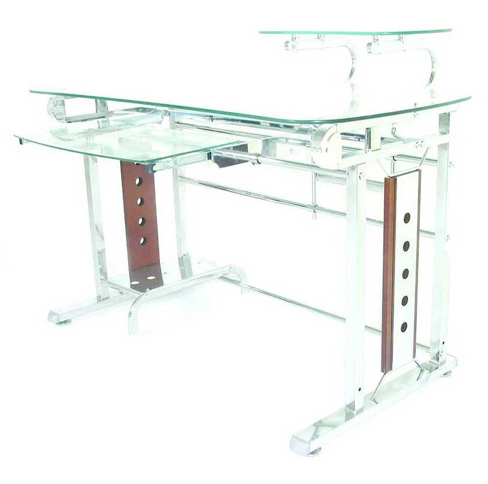 Gl And Metal Modern Computer Desks Design