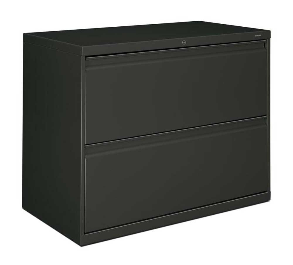 HON Brigade 800 Two Drawers Wide Lateral File Cabinet Black