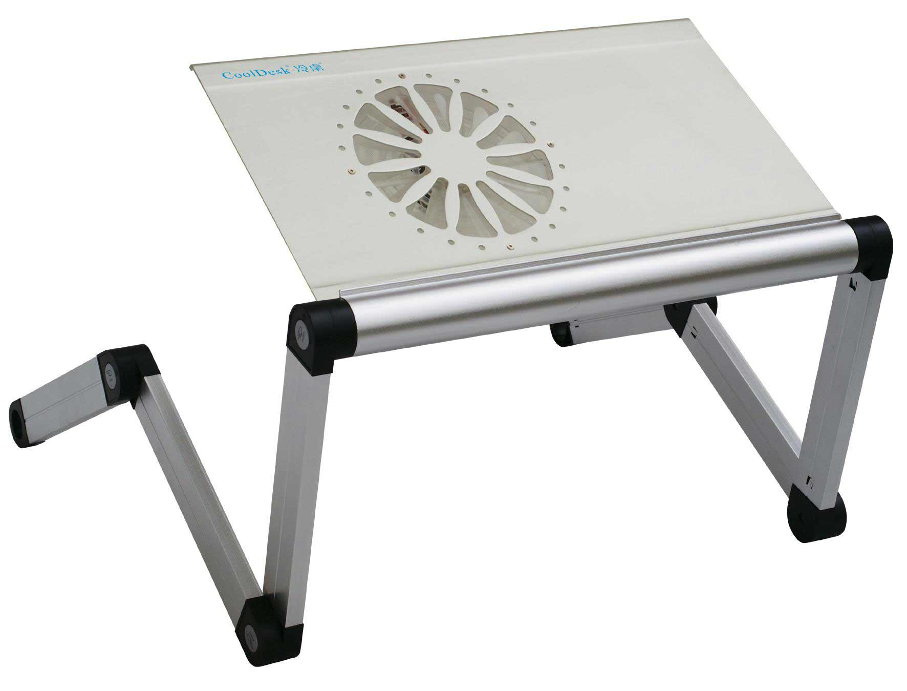 aluminum alloy portable laptop station with cooling fan