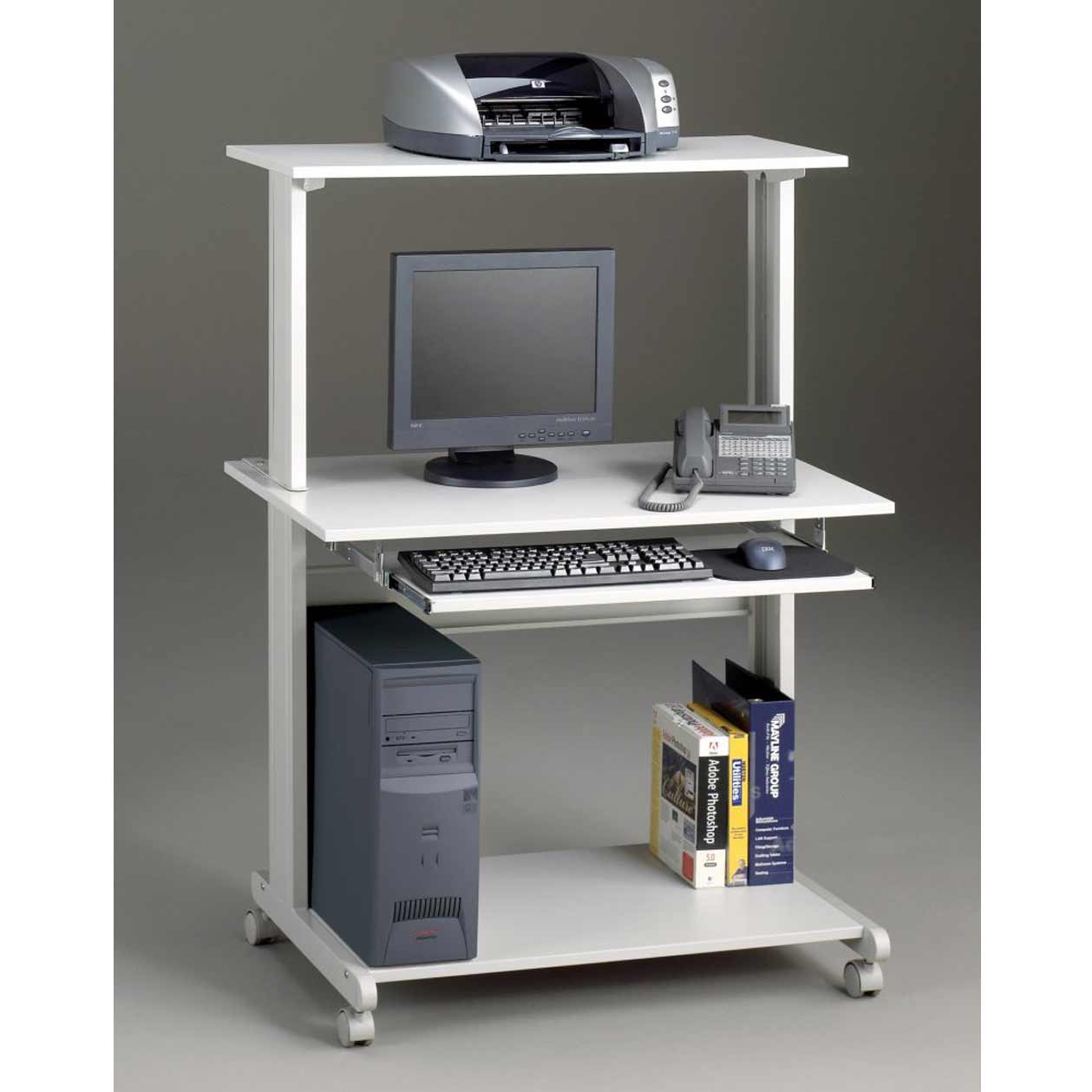 Mayline Portable Computer Workstation in Dove Gray