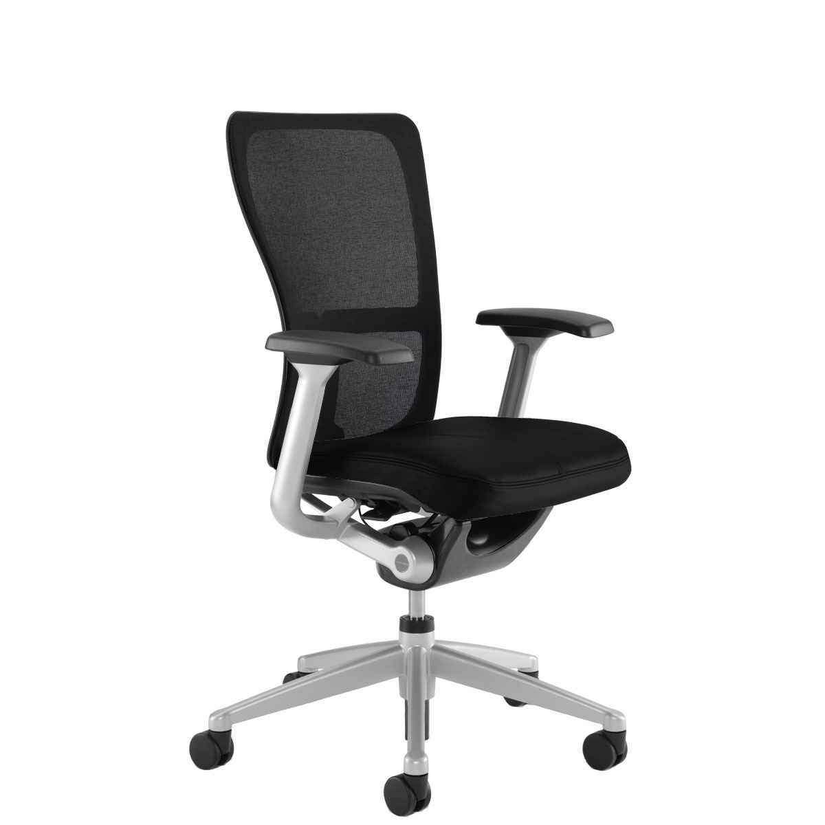 Acqua Black Leather Mesh Office Chair