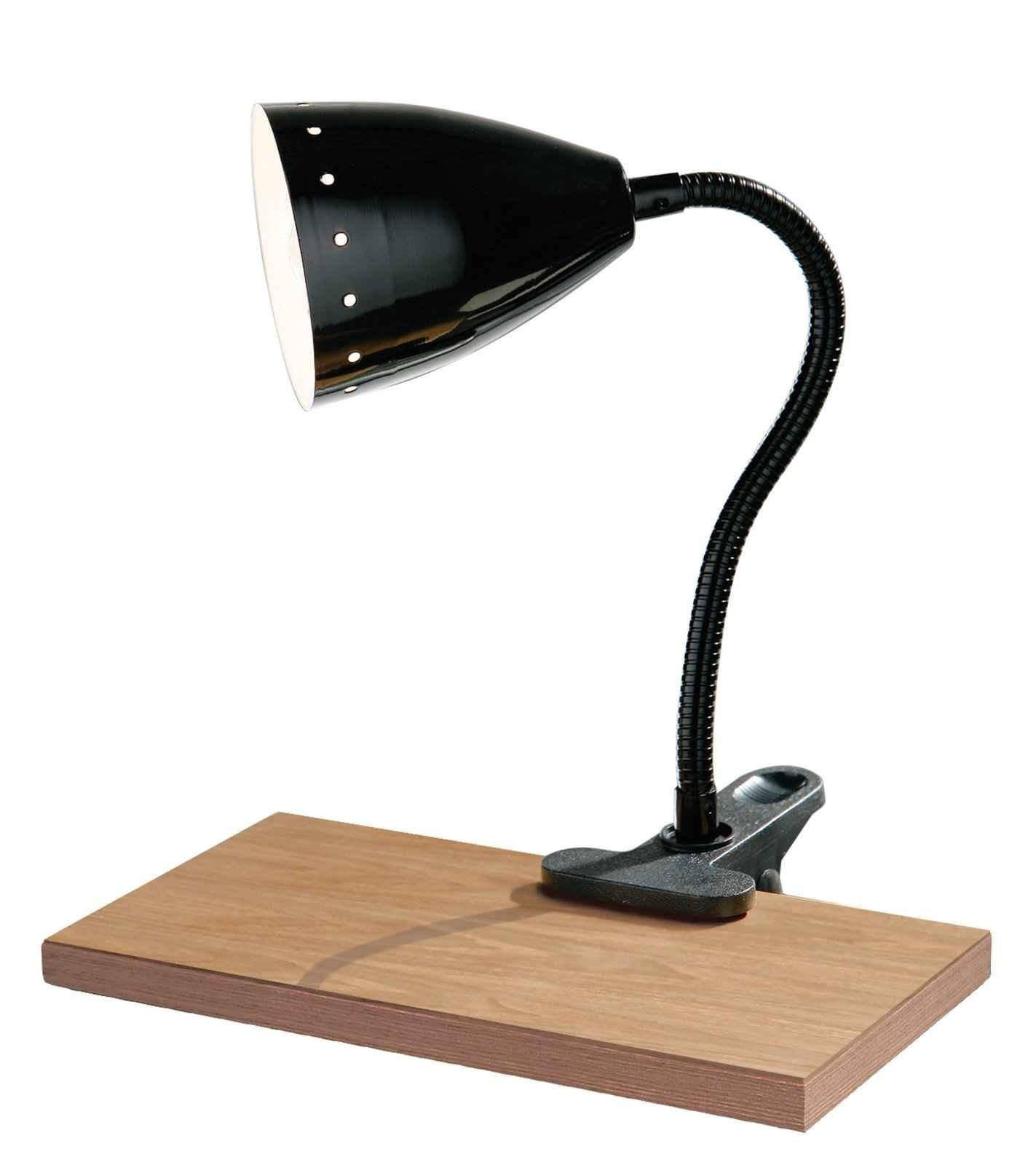 Flexible Black Clip Office Desk Lamp