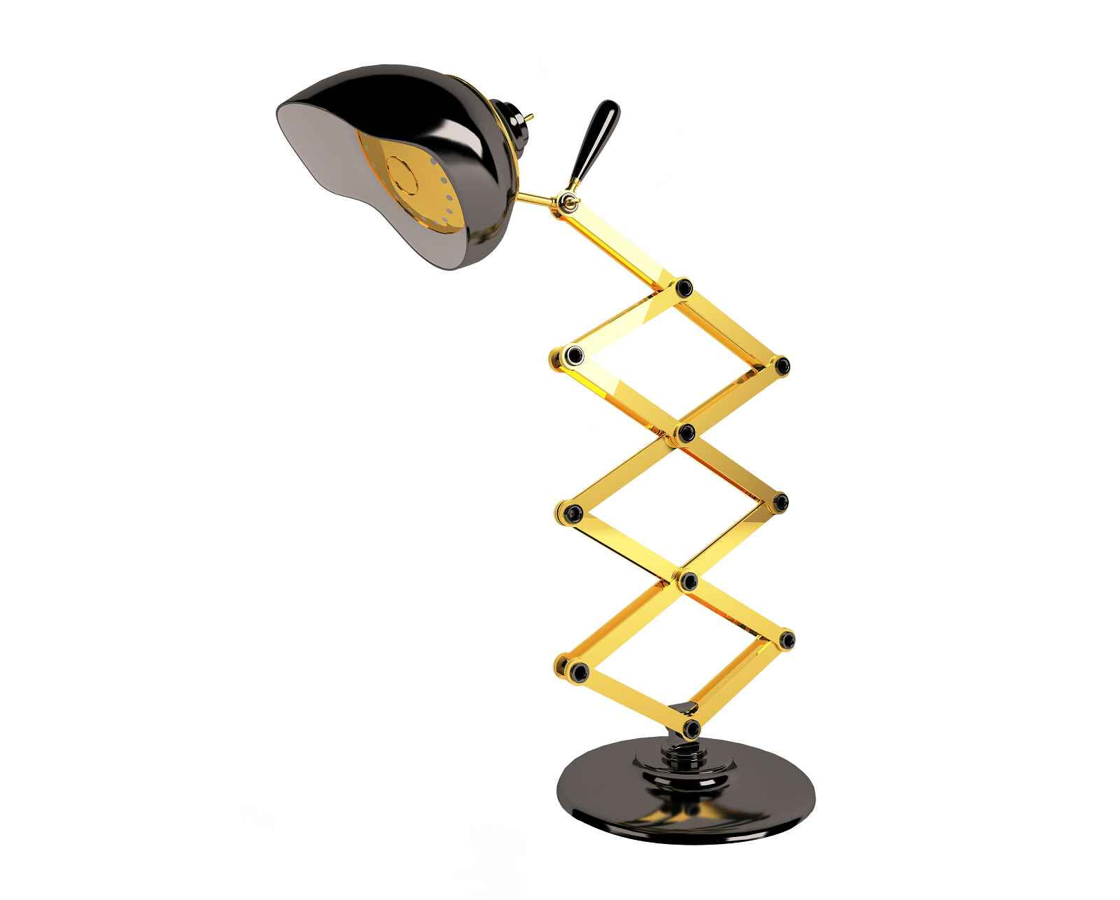 Luxurious home office desk lamp in retro design