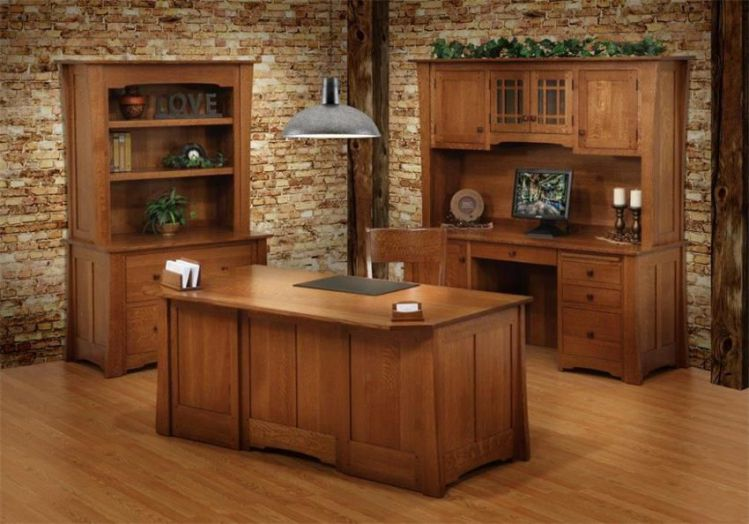 Amish Jamestown solid wood executive desk