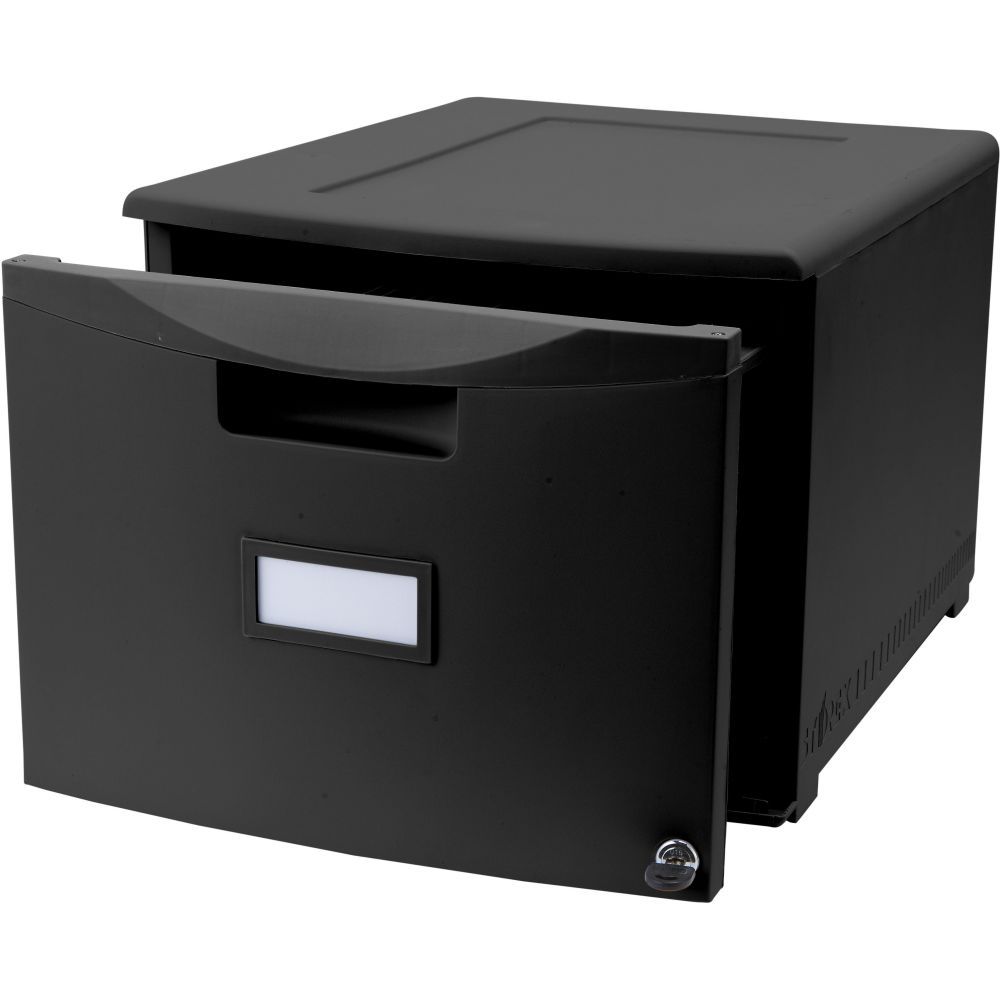 single drawer file cabinet small black filing cabinet for office file management 26155