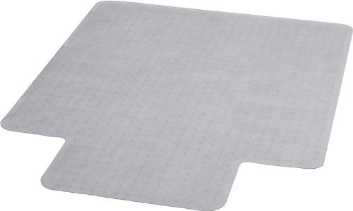 Flash Furniture MAT-CM11113FD-GG 36-Inch by 48-Inch Carpet Chairmat with Lip, Clear