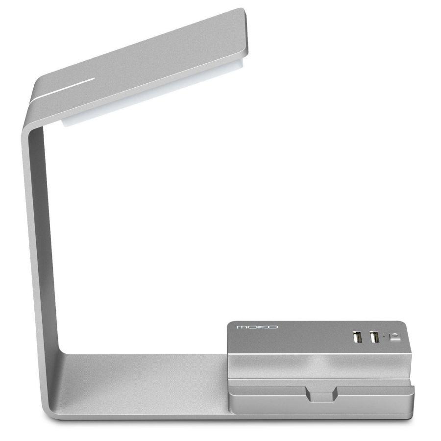 MoKo LED Desk Lamp, Aluminum Eye-caring Table Lamp with 2 USB Charging port